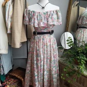 Vintage Floral Frock Dress